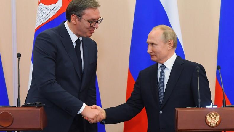 Putin: Serbien wird in Kürze russisches Erdgas über die Turkish Stream-Pipeline erhalten