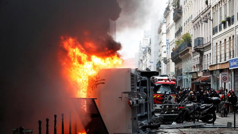 Generalstreik in Frankreich: Verkehr im ganzen Land lahmgelegt – schwere Ausschreitungen in Paris