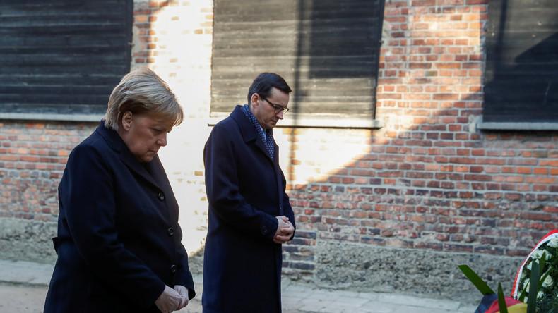 Merkel gedenkt Opfern im Konzentrationslager Auschwitz