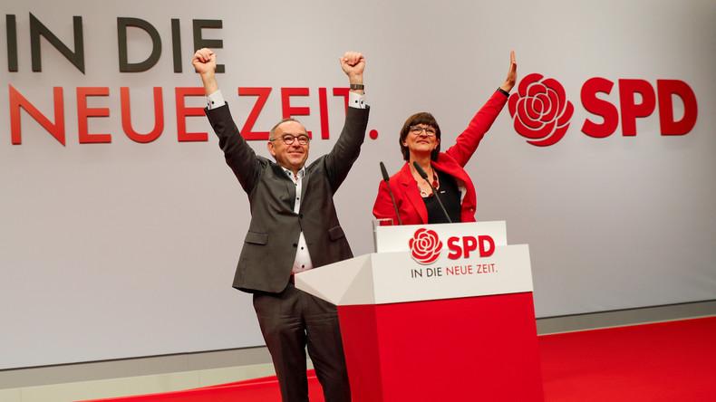 Walter-Borjans und Esken zu SPD-Vorsitzenden gewählt