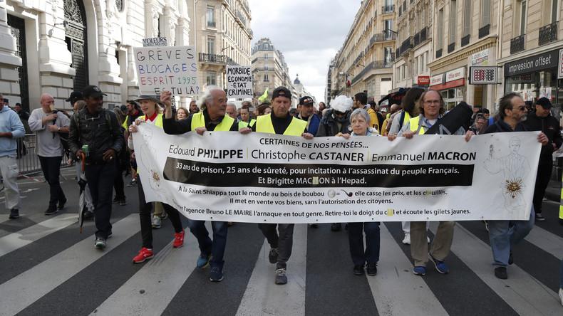 LIVE: #Acte56 – Gelbwesten nehmen am Streik in Paris teil