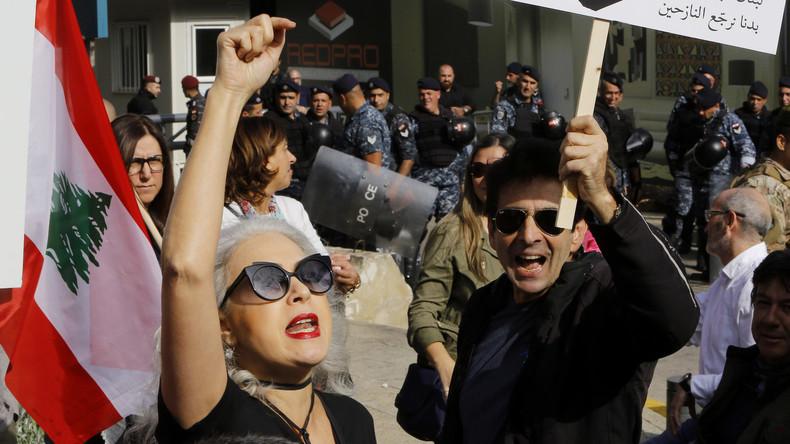 Libanon: Rangeleien mit der Polizei beiBrückenblockade