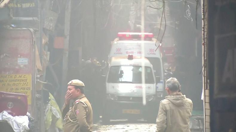 Über 40 Tote bei Brandkatastrophe in Neu-Delhi