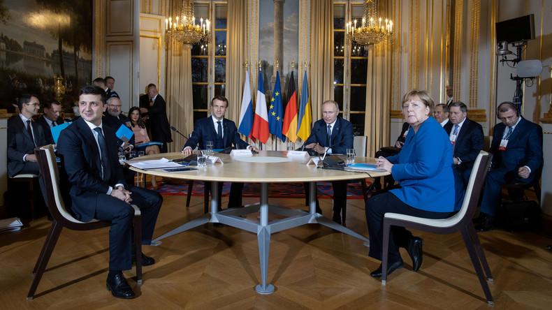 LIVE: Merkel, Putin und Selenskij geben Pressekonferenz nach Normandie-Gesprächen in Paris