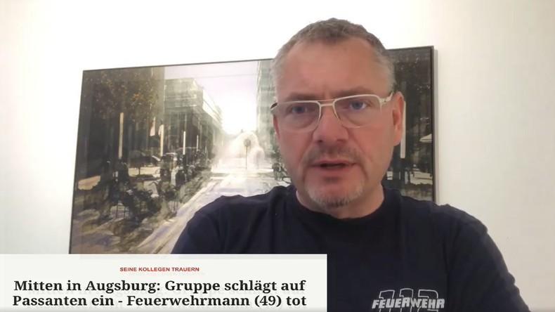 """Feuerwehrmann auf Facebook über das Verbrechen von Augsburg: """"Kein bedauerlicher Einzelfall"""""""