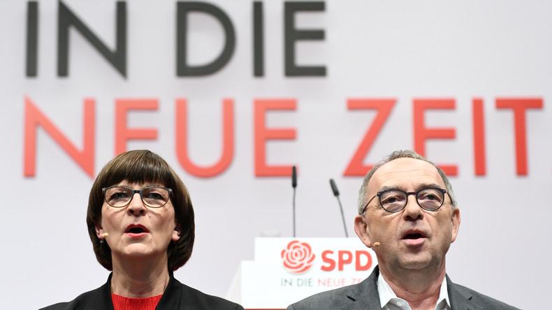 Neue SPD-Führung zeigt sich zufrieden nach dem ersten Treffen mit Merkel