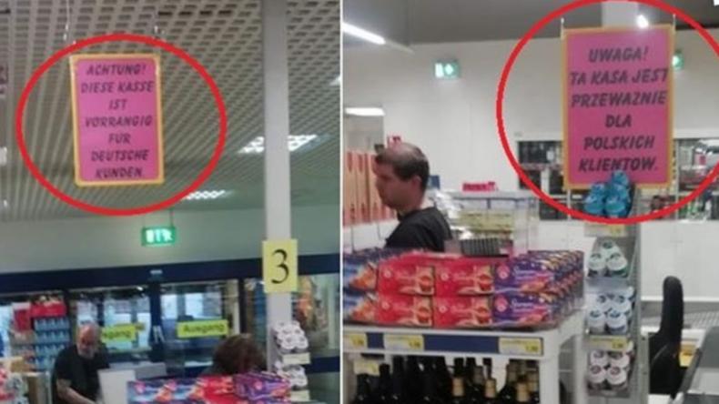 Wochenangebot Spaltpilze – Edeka-Filiale in Cottbus irritiert mit Extra-Kasse für polnische Kunden