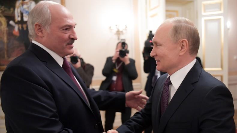 Die Präsidenten Putin und Lukaschenko diskutieren über Handel und bilaterale Zusammenarbeit