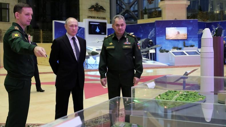 Militärkollegium Moskau: Wladimir Putin zu den Aufgaben der russischen Armee in 2020