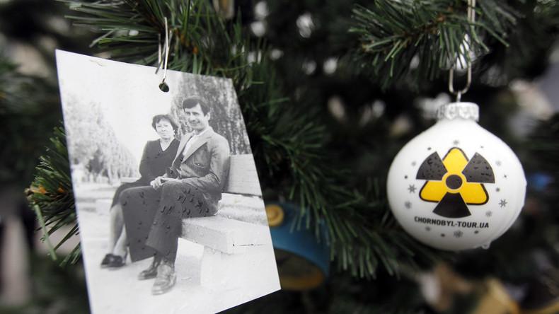 Ukraine: Erster Weihnachtsbaum in Prypjat seit Katastrophe von Tschernobyl aufgestellt