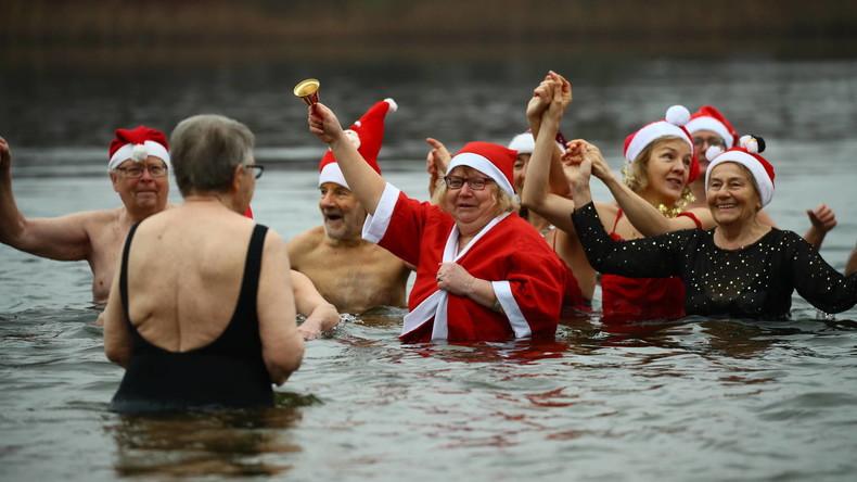 Berliner Seehunde erfrischen sich im Orankesee