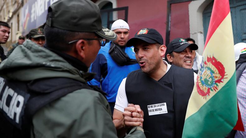 Bolivien: Putschistenführer gibt Vereinbarung mit Armee und Polizei zum Sturz von Morales zu