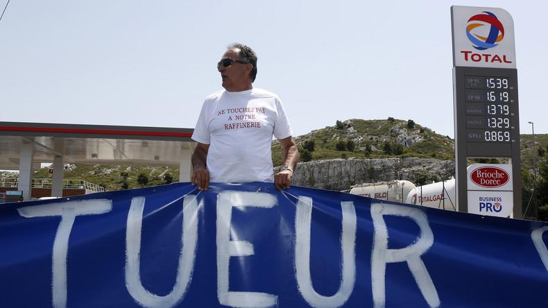 Proteste gegen Rentenreform: Französische Gewerkschaft ruft zur Blockade von Ölraffinerien auf