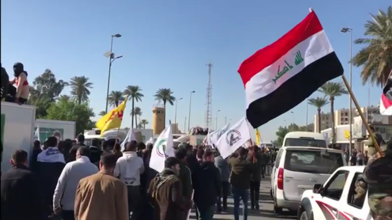 Irak: Demonstranten versuchen, in die US-Botschaft in Bagdad einzudringen
