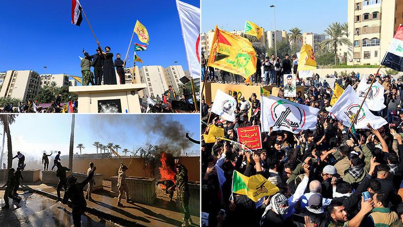 """""""Nieder mit den USA!"""" - Sturm auf US-Botschaft in Bagdad"""