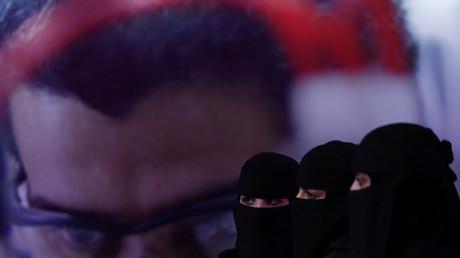 Saudische Frauen auf einer Karrieremesse in Riad, Saudi-Arabien, 2. Oktober 2018.