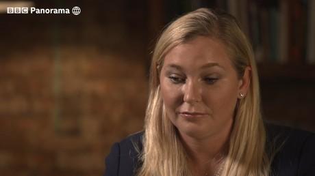 Virginia Giuffre während des am Montagabend ausgestrahlten BBC-Interviews