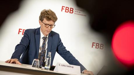 Flughafenchef Engelbert Lütke Daldrup bei einer Pressekonferenz am 29.11.2019 in Berlin, bei der der neue, mutmaßlich endgültige Eröffnungstermin für den Flughafen Berlin Brandenburg Willy Brandt verkündet wurde