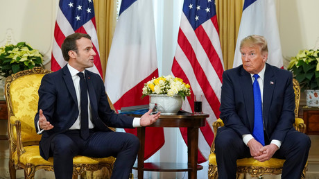 Frankreichs Präsident Emmanuel Macron und US-Präsident Donald Trump trafen sich am 3. Dezember 2019 im Vorfeld des NATO-Treffens in London.