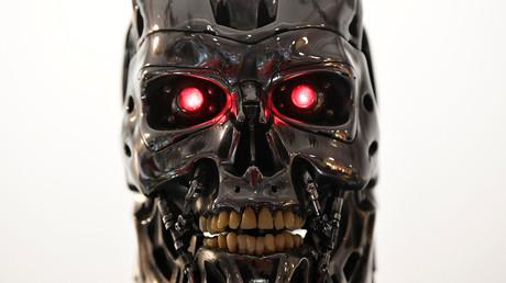 Detailansicht eines Stan Winston Endoskeletts aus dem Film Terminator 2.