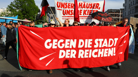 Demonstration gegen hohe Mieten, Berlin, Deutschland, 30. April 2019