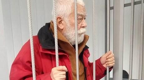 Der Wissenschaftler aus Charkow Mechti Logunow im Gerichtssaal im Jahre 2017.