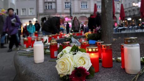 Gedenken an den getöteten Feuerwehrmann, Königsplatz, Augsburg, Deutschland, 8. Dezember 2019.