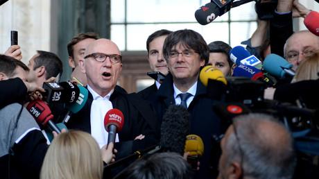 Der ehemalige katalanische Regierungschef Carles Puigdemont, Brüssel, Belgien, 29. Oktober 2019.