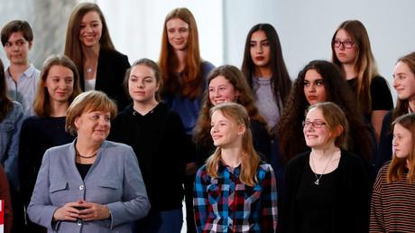 Bundeskanzlerin Angela Merkel beim Mädchentag, Berlin, Deutschland, 27. März 2019.