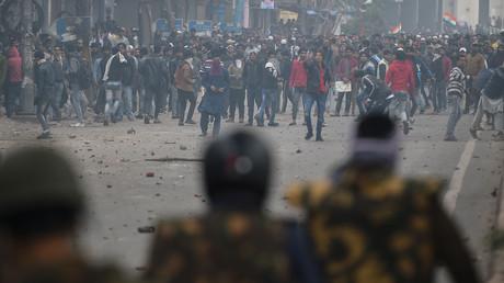 Proteste am 17. Dezember in Neu-Delhi gegen das neue indische Staatsbürgerschaftsgesetz.