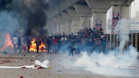 Demonstrationen gegen das neue Staatsbürgerschaftsgesetz, Seelampur, Indien, 17. Dezember 2019.