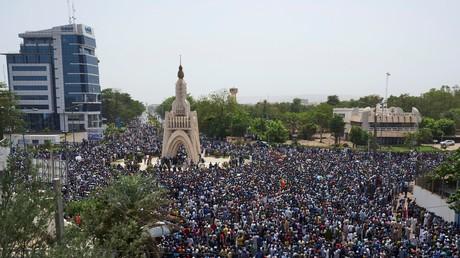 Antifranzösische Proteste in Malis Hauptstadt Bamako, April 2019