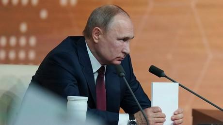 Wladimir Putin bei seiner jährlichen Pressekonferenz am 19.12.2019