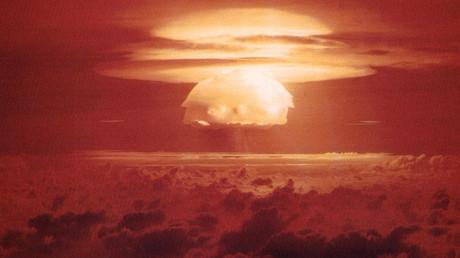 US-Atombombentest während des Kalten Krieges