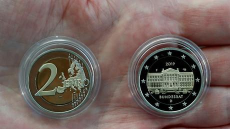 Präsentation der neuen 2-Euro-Münze, Berlin, Deutschland, 15. Februar 2019.