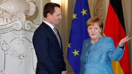 US-Botschafter Richard Grenell, Bundeskanzlerin Angela Merkel, Meseberg, Deutschland, 6. Juli 2018.