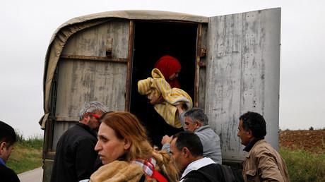 Syrische Flüchtlinge, Nea Vyssa, Griechenland, 2. Mai 2018.