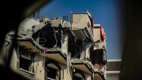 Das Haus des Dschihadisten Baha Abu al-Ata im Gazastreifen nach einem israelischen Luftangriff – laut israelischen Sicherheitskräften wurden ausnahmsweise gezielte Angriffe geflogen, 12. November 2019.