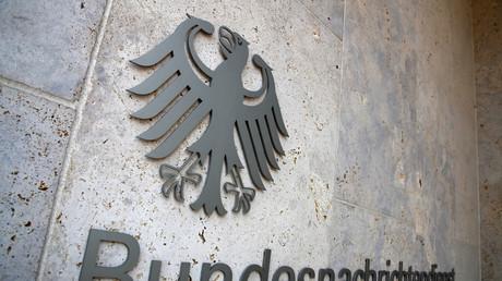 Schild des Bundesnachrichtendienstes, Berlin, Deutschland, 8. Februar 2019