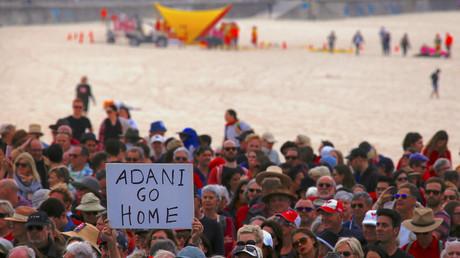 Nationaler Aktionstag gegen die neue Mine der Gruppe Adani, Sydney, Australien, 7. Oktober 2017