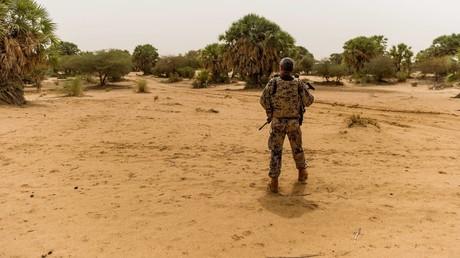 Ein Bundeswehrsoldat in Mali.