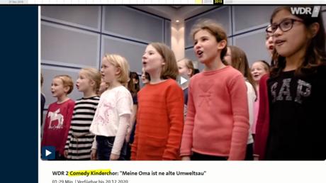 Lief erst als Comedy, dann als Satire: Der WDR-Kinderchor in Aktion