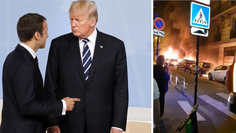 """""""Wie läuft das Klimaabkommen?"""" Trump trollt Macron während massiver Rentenproteste und -streiks"""