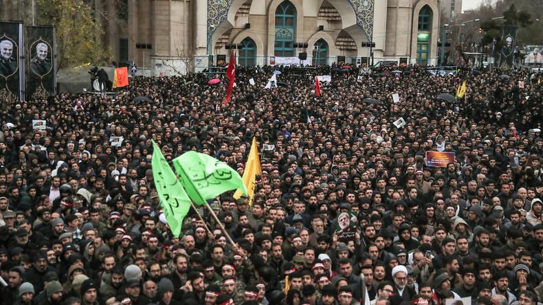 Iran: Zehntausende bei Trauerzug für Soleimani