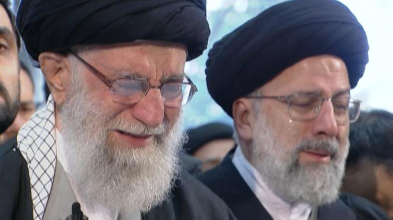 Trauerfeier für Soleimani in Teheran: Irans geistliches Oberhaupt Chamenei bricht in Tränen aus