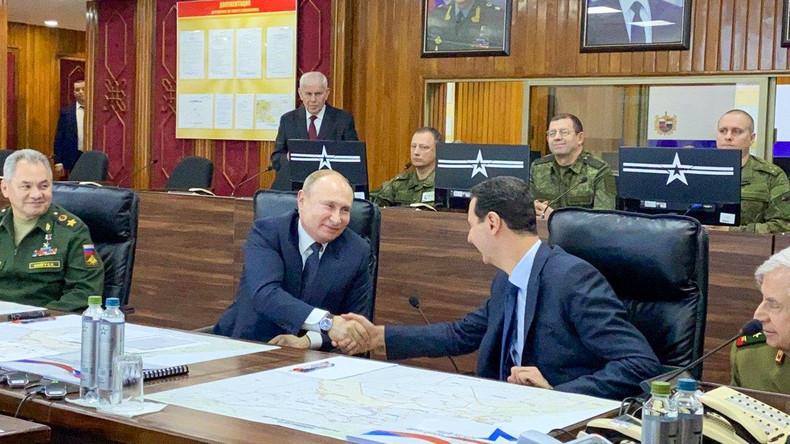 Putin besucht überraschend Syrien – Treffen mit Präsident Assad und führenden Militärs