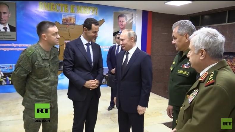 Putin trifft Assad bei Überraschungsbesuch in Syrien (Video)