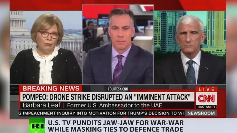 """Als """"Experten"""" getarnt: Wie US-Rüstungslobbyisten im Fernsehen für Krieg trommeln (Video)"""