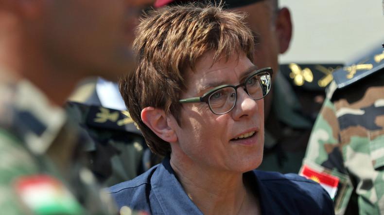 Kramp-Karrenbauer will deutsche Soldaten trotz irakischer Resolution in Erbil lassen