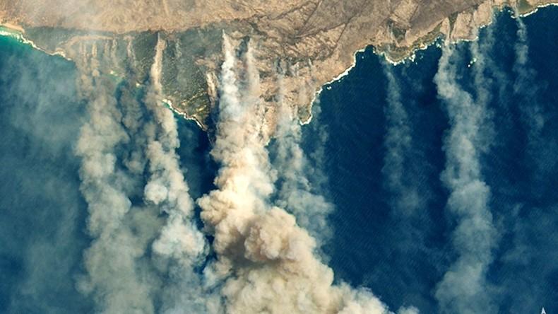 Australien: Im Inneren eines Buschfeuers (Video)